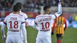 Лион продължава да наказва отбори из Франция