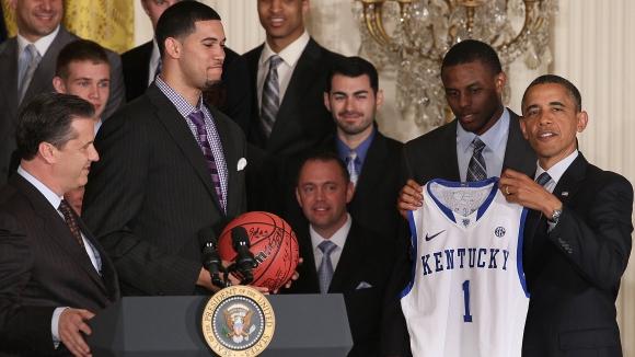 Обама короняса Кентъки като колежански шампион