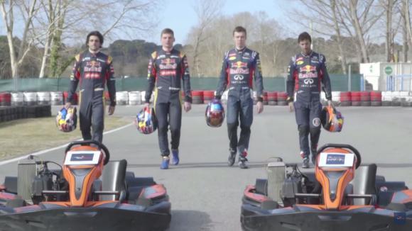 Ред Бул vs. Торо Росо на картинг пистата (Видео)