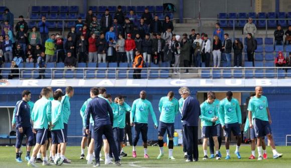 Ман Сити направи възстановителна тренировка в Барселона