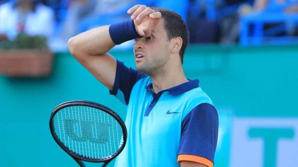 Слаб мач на Григор - няма да има финал с Федерер в Истанбул (видео)