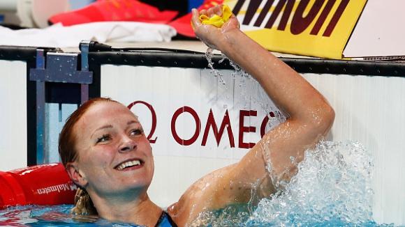 Сара Сьострьом с втора поправка на световния рекорд на 100 м бътерфлай