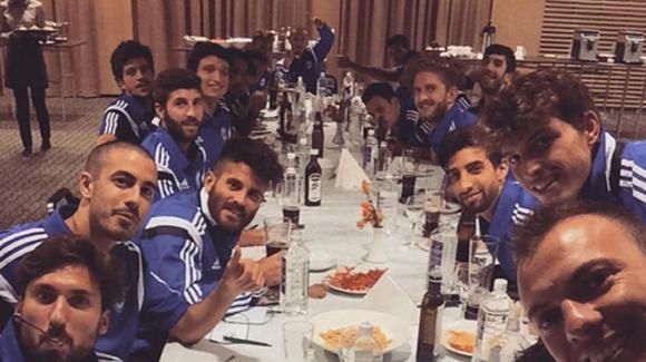 Сан Марино празнува вкарания гол