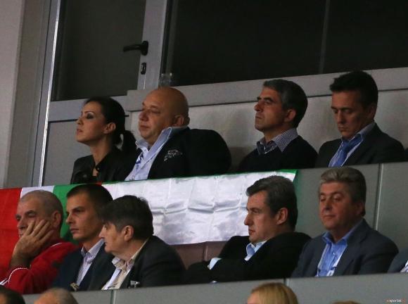 Двама президенти на България изгледаха България - Франция