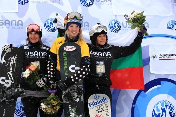 Сани Жекова с нов сноуборд