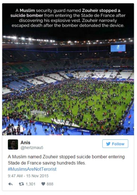 """Сирийският герой на """"Стад дьо Франс"""" се оказа измислица"""