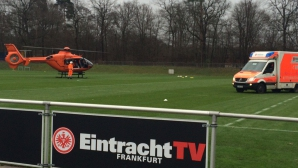 Хеликоптер по спешност на тренировката на Айнтрахт