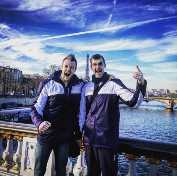 Зайцев и Бирюков се щракат в Париж