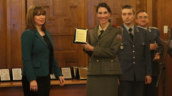 Стамболова и Георги Иванов с награди от военните