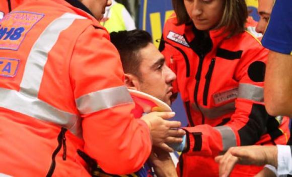 Нокаут във волейбола! Атака на Атанасийевич прати Сандър в болница (ВИДЕО)