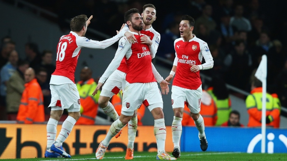 Арсенал с ценен успех в битката за титлата