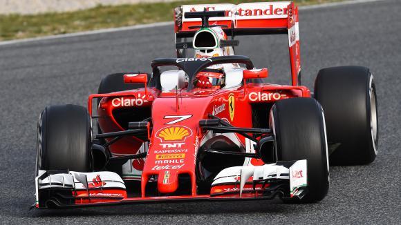 Райконен впечатли с най-добро време от началото на тестовете в Барселона