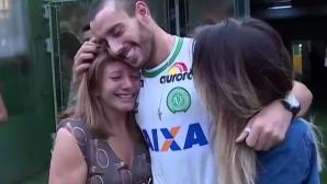 Оцелял играч на Чапе през сълзи: Жив съм, защото си смених мястото в самолета