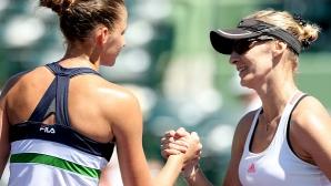 Плишкова с категорична победа по пътя към първия си полуфинал в Маями
