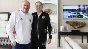 Селекционерът на Русия специален гост на Лудогорец