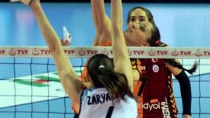 Христина Русева и Галатасарай удариха Динамо (Казан) със Супер Ели в първия полуфинал за Купата на CEV