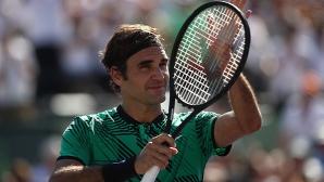 Федерер се връща в топ 5, бори се с Надал за 4-ката