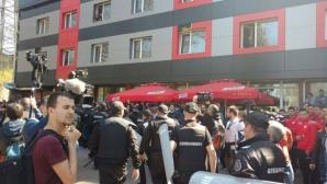 Жалко: децата на ЦСКА-София бяха използвани за жив щит