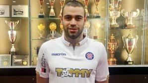 Терзиев най-накрая дебютира за Хайдук (Сплит)