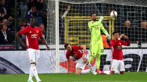 Ман Юнайтед изпусна победата в Белгия (видео)