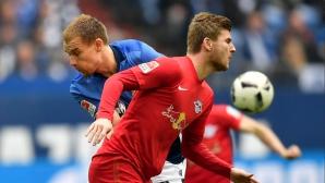 Шалке спря Лайпциг, Байерн може да е шампион след седмица (видео)