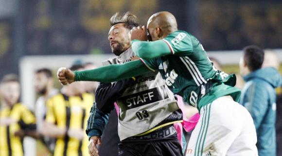 """""""Боксьорът"""" Фелипе Мело предизвика масов бой на мач от Копа Либертадорес (видео + снимки)"""