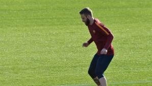 Де Роси поднови тренировки и се очаква да играе в дербито