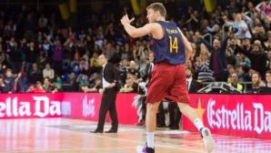 Силен Везенков при нова победа на Барселона в Испания (видео)