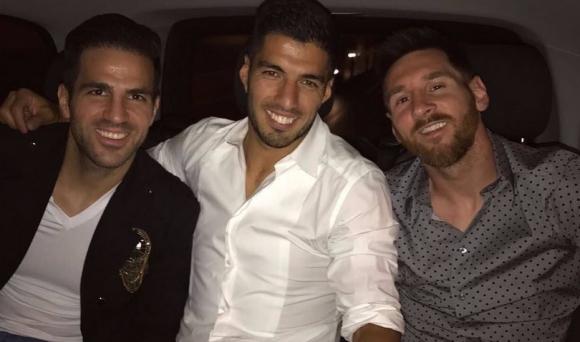 Вижте какво правеха звездите на Барса, докато Реал биеше Селта (снимки)