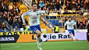 Алекс Колев с победен гол в българското дерби в Полша (видео)