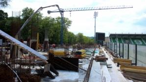 """Строежът на новия сектор """"В"""" на """"Лудогорец Арена"""" върви с пълна сила (снимки)"""