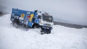 """Чудовищни снежни скокове с Kamaz преди """"Пътят на коприната"""""""