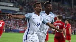 Англия е на 1/2-финал на Европейското до 21 години (видео)