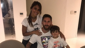 Меси отпразнува рождения ден със семейството си