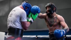 Конър Макгрегър тренира здраво за мача си срещу Флойд Мейуедър (видео + снимки)