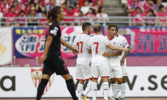 Муриел бележи при победа на Севиля в Япония (видео)