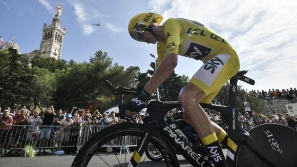 """Фрум си гарантира победата в Тур-а след драматичен """"часовник"""" в Марсилия"""
