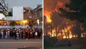 Апокалипсис в Сплит, фенове и играчи на Хайдук гасят огромен пожар