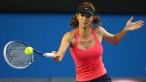 Цветана Пиронкова почва от пресявките на US Open