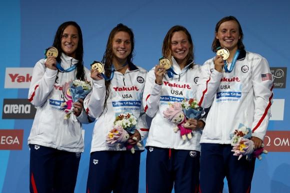 Триумф за САЩ на 4 по 200 метра свободен стил при жените