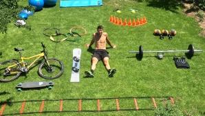 Радослав Янков тренира в двора си в Чепеларе