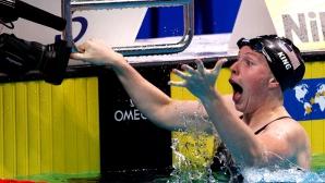 Лили Кинг спечели титлата на 100 метра бруст с нов световен рекорд (видео)