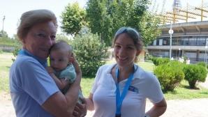 И 3-месечната Андреа част от организацията на Световното по гребане в Пловдив