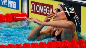 Федерика Пелегрини детронира Ледецки на 200 метра свободен стил