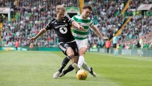 Селтик и Розенборг не си вкараха в Шотландия
