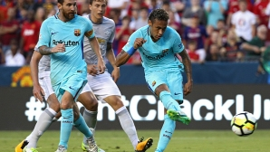Неймар донесе победа на Барселона над Манчестър Юнайтед