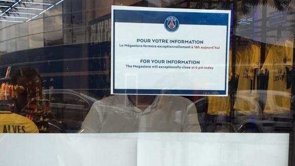 Официалният фен-магазин на Пари Сен Жермен, който се намира непосредствено