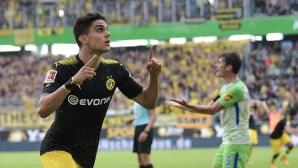 Волфсбург - Дортмунд 0:3 на почивката (гледайте тук)