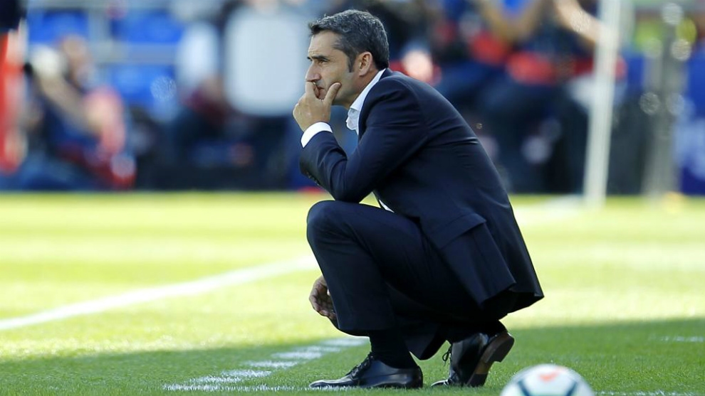 Старши треньорът на Барселона Ернесто Валверде похвали отборния дух и