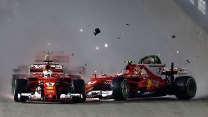 Фетел след провала в Сингапур: Предадохме отбора, извинявам се на всички във Ферари